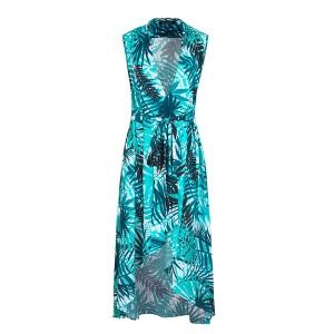 Asimetrična mantil haljina s remenom 3 modela