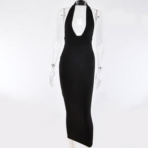 Duga reljefna haljina na duboki izrez *limitirana kolekcija*