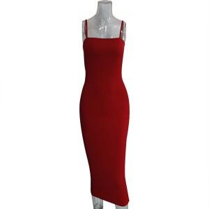 Midi haljina olovka kroja na bretele