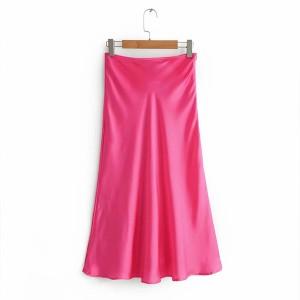 Midi satenasta suknja