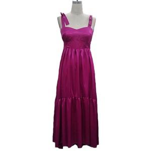 Duga satenasta haljina na volane limitirana kolekcija