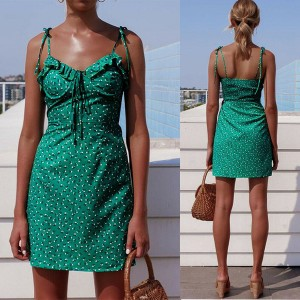 Mini vintage haljina na sitne volane