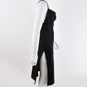 Satenasta haljina s prorezima