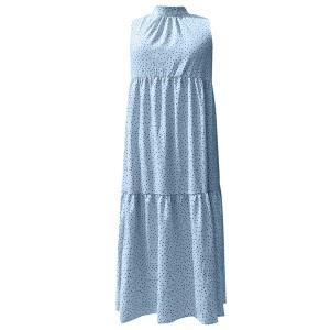 Duga točkasta haljina povišenog ovratnika