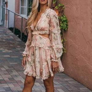 Mini vintage cvjetna haljina otvorenih leđa *limitirana kolekcija*