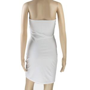 Mini nabrana haljina otvorenih ramena s mašnom