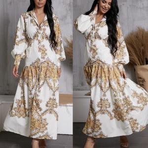 Duga boho haljina paisley printa