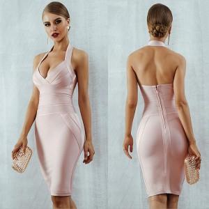 Luksuzna midi bandage haljina dubokog dekoltea *premium kvaliteta*