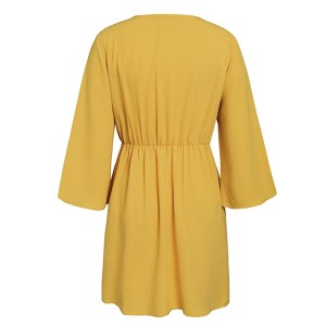 Mini haljina od šifona sa čvorom
