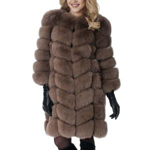 Raskošna zimska bunda srednje duljine