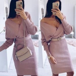 Pletena haljina u dva dijela pulover + suknja