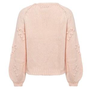 Luksuzni pleteni pulover s pomponima u obliku srca *limitirana kolekcija*