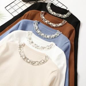 Pulover s ovratnikom od perlica *limitirana kolekcija*