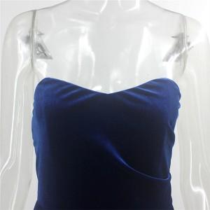 Mini baršun haljina otvorenih ramena