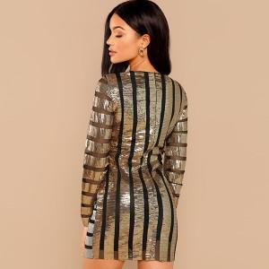 Mini dvobojna haljina na šljokice