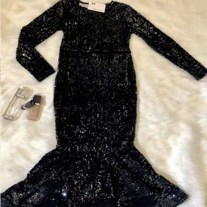 Midi haljina sirena kroja na šljokice *limitirana kolekcija*