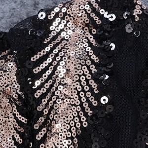 Duga svečana haljina s prorezom na šljokice *premium kvaliteta*