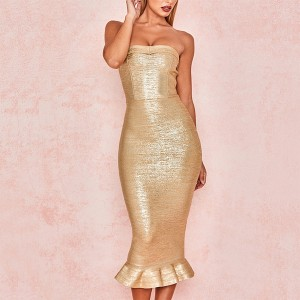 Luksuzna midi bandage haljina otvorenih ramena *premium kvaliteta*