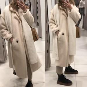 Medo kaput izgleda krzna srednje duljine 11 boja